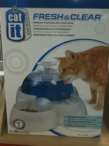 Hagen Catit Design Water Fountain With Food Bowl - Cat  Drinker