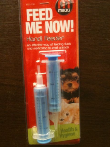 MIKKI FEED ME NOW HAND FEEDING REARIN SYRINGE FOR  SMALL ANIMALS
