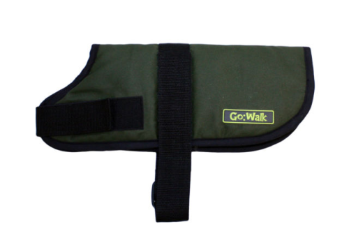 Happy Pet Go Walk Wax Dog Coat Green With Velcro Tie Straps,