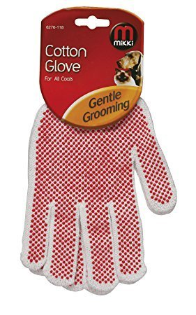 MIKKI COTTON GROOMING GLOVE FOR ALL COATS CAT-DOG