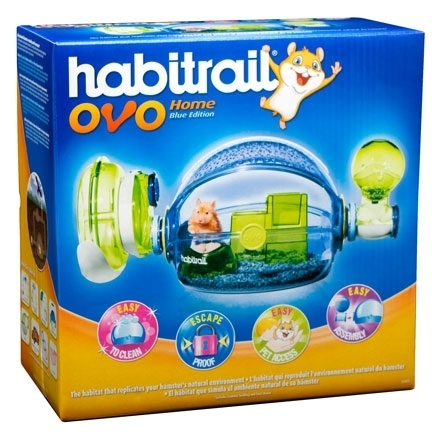HAGEN HABITRAIL OVO HOME BLUE-PINK EDITION HAMSTER CAGE.