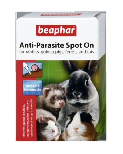 RABBIT  GUINEA PIG RATS FERRET anti-parasite SPOT ON .beaphar