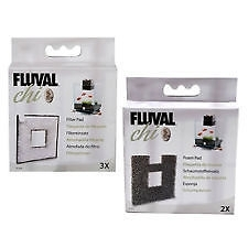 FLUVAL CHI REPLACEMENT FILTERS ONE PACK OF EACH POLY-CARBON AND ONE PACK OF FOAM