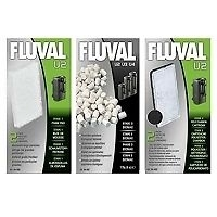 genuine Fluval U2 Media Replacement Filter Foams,Poly & Biomax. full set