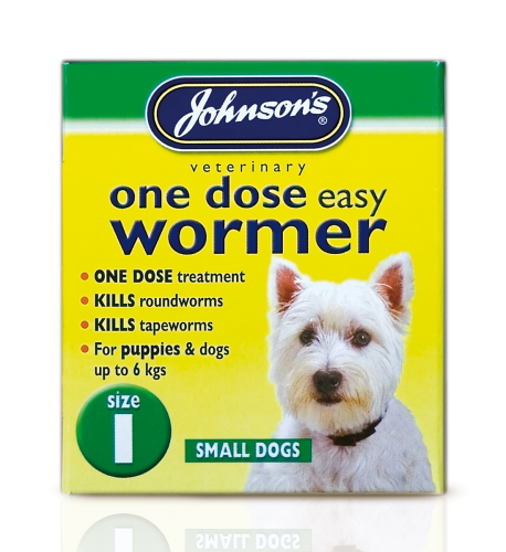 Johnson's small dog wormer for dogs and puppies