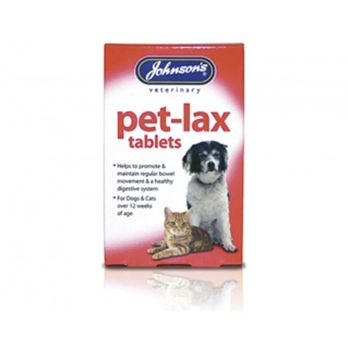 Johnson's pet-lax tablets for dogs and cats