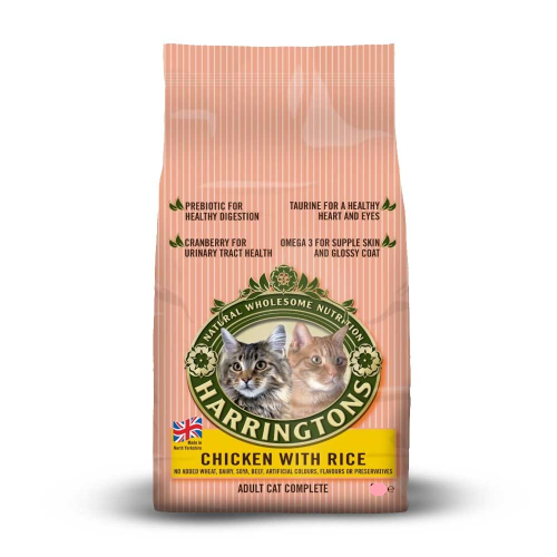 Harringtons dry cat food chicken and rice  500g