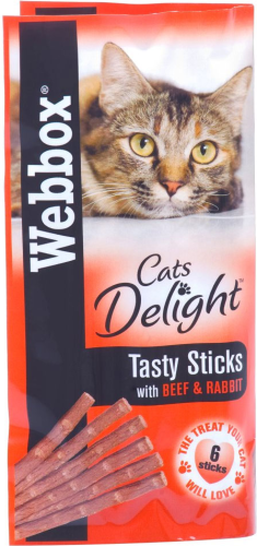 Web box tasty sticks with beef and rabbit 6   sticks 30g