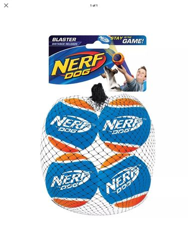Nerf Dog Nerf Dog Blaster Distance Balls Refill Pack 4pk Dog Toy