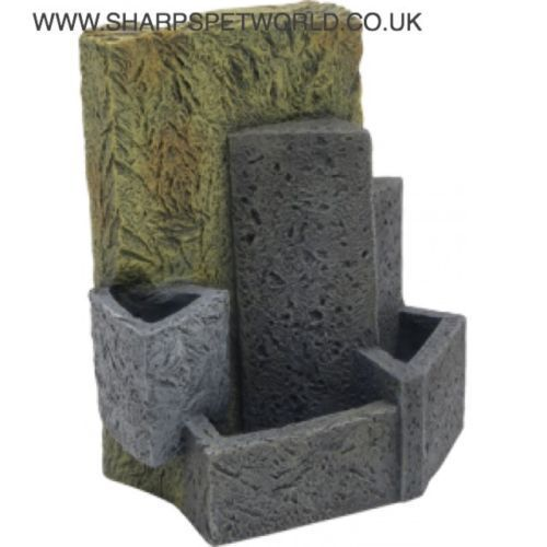 Fluval EDGE aquarium with this attractive Stone Wall aquarium ornament