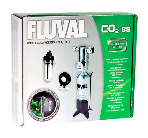 The Fluval® Pressurized CO2 Kit 88g fish tank